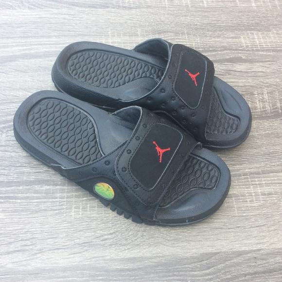 9c2a308e0862 Jordan Grade School Black Sandals